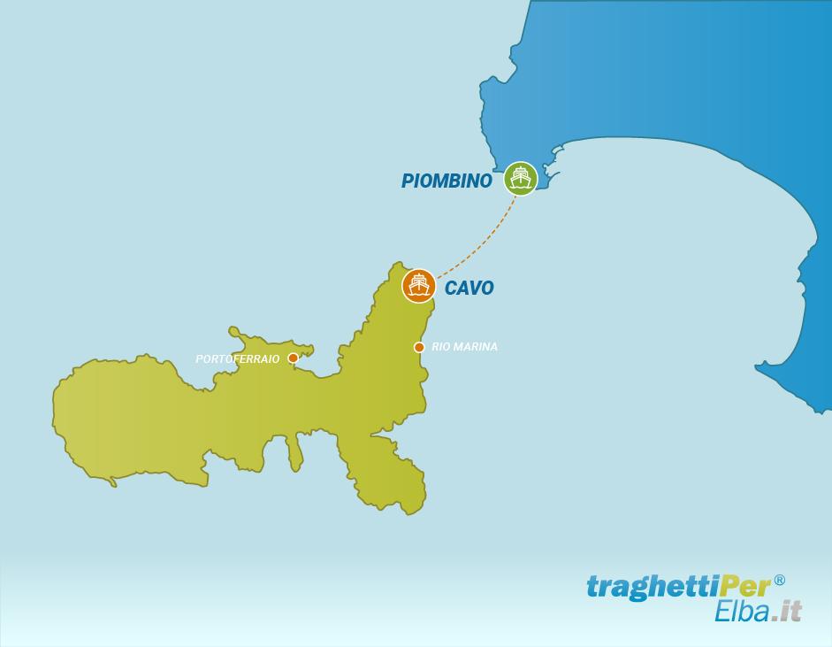 Fahren von Piombnio nach Cavo