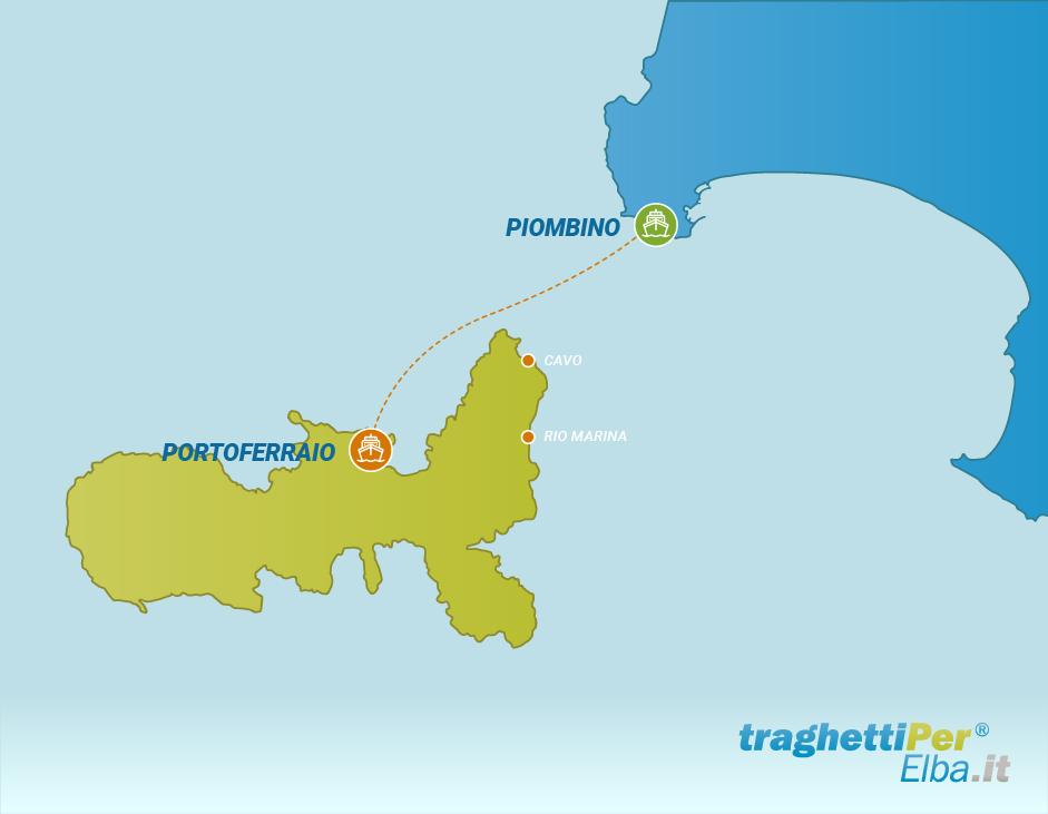 Fahren von Piombino nach Portoferraio
