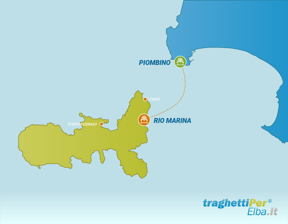 Fahren von Piombino nach Rio Marina
