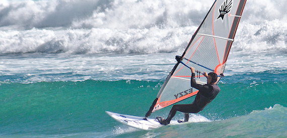 windsurfing on Elba Island: Capoliveri