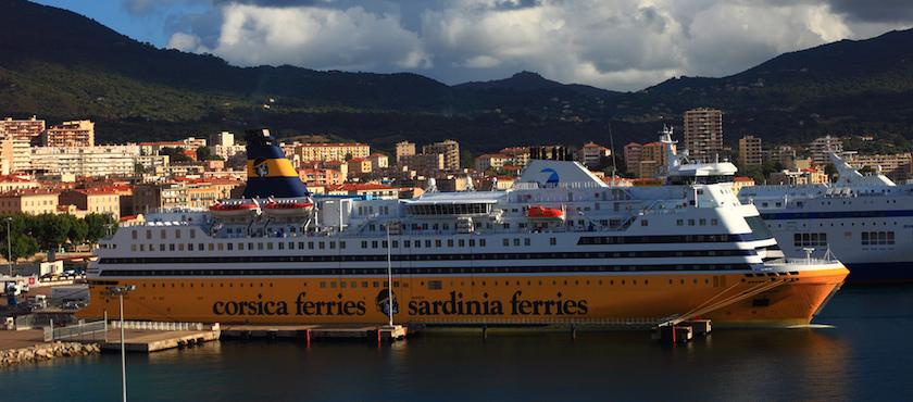 LPG car on ferries to Elba Island