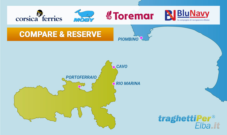 compare & reserve ferry tickets to the island of Elba