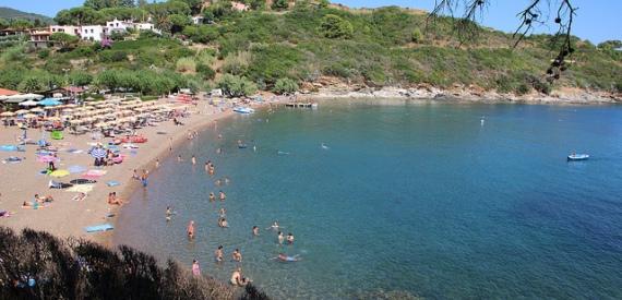spiaggia di Barbarossa isola d'Elba