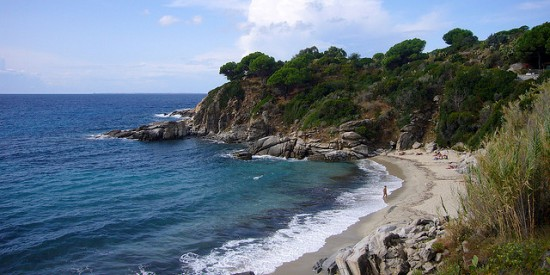 la spiaggia di Cavoli