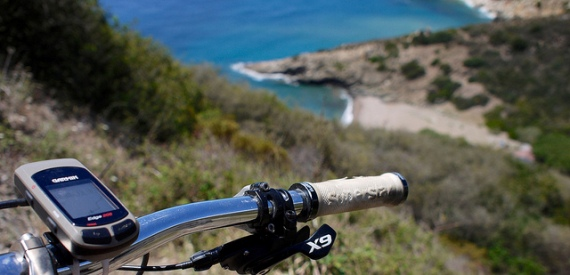 ciclismo sul monte Calamita