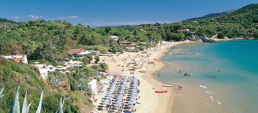 spiagge isola d'Elba versante sud