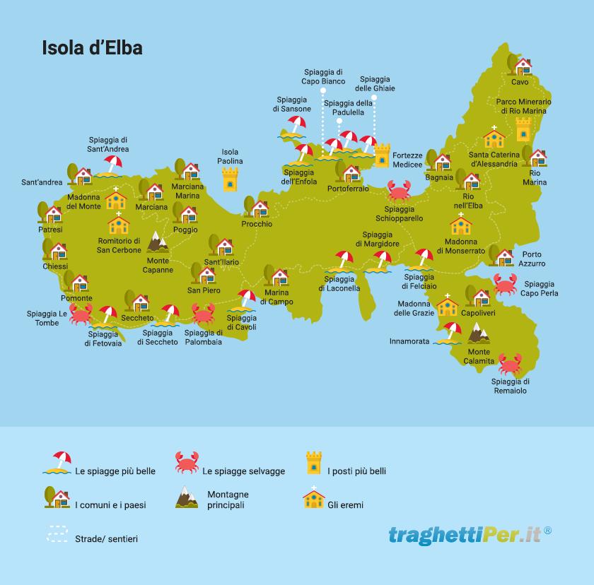 Cartina Elba Isola.Cartina Dell Isola D Elba Ecco La Vostra Mappa